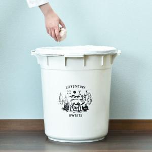 ゴミ箱 ごみ箱 ダストボックス 屋外 ふた付き おしゃれ 分別 丸型カラーペール 45L garbage can|monogallery|02