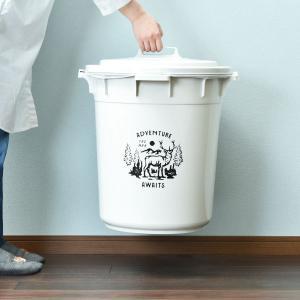 ゴミ箱 ごみ箱 ダストボックス 屋外 ふた付き おしゃれ 分別 丸型カラーペール 45L garbage can|monogallery|05