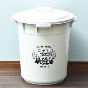 ゴミ箱 ごみ箱 ダストボックス 屋外 ふた付き おしゃれ 分別 丸型カラーペール 45L garbage can|monogallery|06