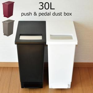 2種類の開け方ができるプッシュ&ペダル式のごみ箱です。  1つ目はペダルでの開閉。 本体から...