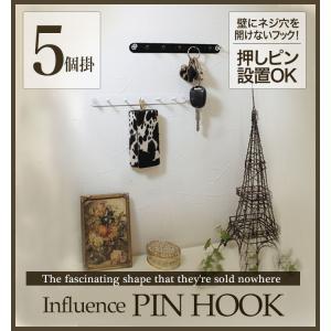 【5個掛け】押しピンアイアンフック monokozz