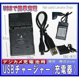 NP-40 用 フジ 対応 互換  USB充電器 バッテリーチャージャー 0735-1|monomapjp