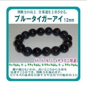 ブルータイガーアイ パワーストーン 天然石 12mm ブレスレット|monomapjp