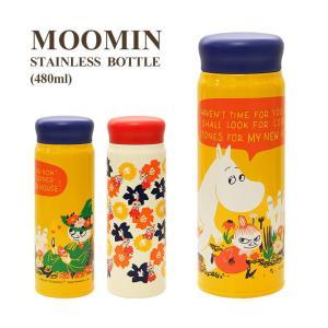 ムーミン ステンレスボトル 480ml お花畑 フラワー 09s-mmlc3 MMLC33009 M...