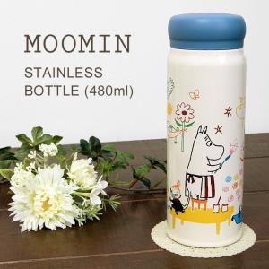 ステンレスボトル ムーミン 480ml 保温 保冷 水筒 ボトル 09s-mmlc4