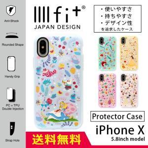 iPhoneXS ケース iPhoneX キャラクター ディズニー イーフィット IIIIfit プ...
