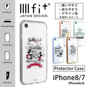 iPhone8 ケース iPhone7 ケース ディズニー イーフィット IIIIfit クリア アイフォン8 ケース iPhone 8 ケース|monomode0629