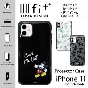 ディズニー IIIIfit iPhone 11 ケース ハイブリッド ミッキー エイリアン トイスト...