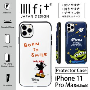ディズニー IIIIfit iPhone 11 pro Max ケース ハイブリッド ミッキー トイ...