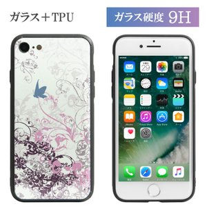 iPhone8 ケース iPhone X 7 Flower&Butterfly|monomode0629