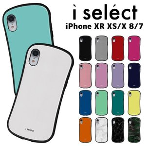 iPhone XR ケース iPhone XS x  8 7 i select ガラス ケース