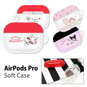 AirPods Pro ケース サンリオ ソフト ケース クリア Air Pods Pro エアーポ...