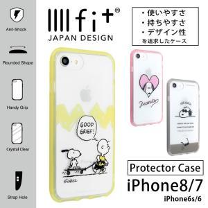iPhone8 ケース iPhone7 ケース スヌーピー イーフィット IIIIIfit クリア アイフォン8 ケース iPhone 8 ケース|monomode0629