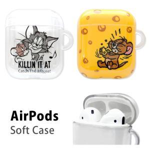 AirPods ケース クリア ソフト トムアンドジェリー Air Pods エアーポッズ|monomode0629