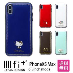 サンリオキャラクターズ iPhoneXS Max対応IIIIfitケース    サンリオキャラクター...
