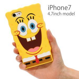 スポンジ・ボブ iPhone7 4.7インチモデル対応 ダイカットシリコンケース sb-44a