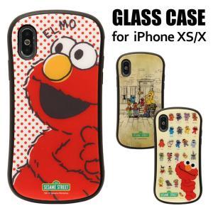 セサミストリート iPhone XS対応 ハイブリッドガラスケース    ・対応機種…iPhone ...