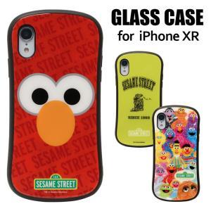iPhone XR ケース ガラス セサミストリート
