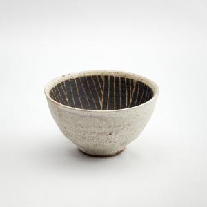 ごはん茶碗 米道具 ご飯 丼 日本製 おしゃれ 人気 陶器 和食器 黒 梅花皮(サビ巻)石臼紋飯碗 monomono-shop