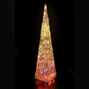 LEDプリンセスツリー オレンジ クリスマス イルミネーション 豪華 ツリー 簡単 イルミ おしゃれ かっこいい 防滴 屋外 ACアダプター|monoplan