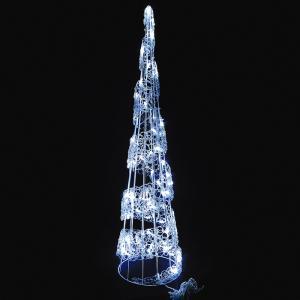 LEDスパイラルツリー ホワイト クリスマス イルミネーション 豪華 ツリー 簡単 イルミ おしゃれ かっこいい ACアダプター|monoplan