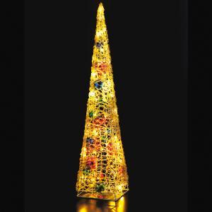 LEDクリスタルボールツリー ゴールド クリスマス イルミネーション 豪華 ツリー 簡単 イルミ おしゃれ かっこいい ACアダプター|monoplan
