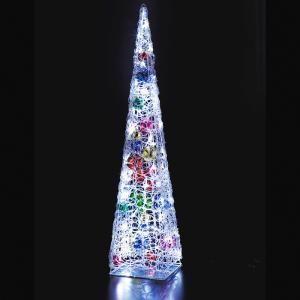 LEDクリスタルボールツリー トゥインクルホワイト クリスマス イルミネーション 豪華 ツリー 簡単 イルミ おしゃれ かっこいい ACアダプター|monoplan