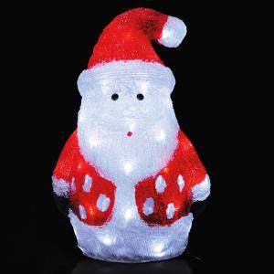 LEDクリスタルモチーフサンタ クリスマス イルミネーション 豪華 サンタクロース イルミ かわいいクリスタルモチーフ ACアダプター|monoplan