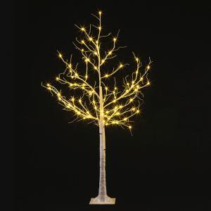LEDホワイトブランチツリー180cm クリスマス 木 オブジェ イルミネーション 電飾 装飾 おしゃれ 飾り イルミ かわいい ACアダプター|monoplan