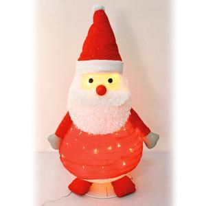 フォールディングデコレーションサンタ クリスマス オブジェ イルミネーション 電飾 装飾 飾り イルミ かわいい ACアダプター|monoplan