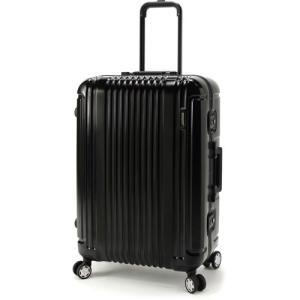 BERMAS PRESTIGE III バーマス プレステージ3 スーツケース ハードキャリー フレームタイプ 4輪 62cm 66L ブラック 60281-BK|monosapiens