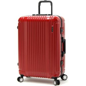 BERMAS PRESTIGE III バーマス プレステージ3 スーツケース ハードキャリー フレームタイプ 4輪 67cm 87L レッド 60282-RD|monosapiens