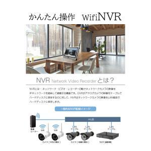 防犯カメラ 無線NVR +ワイヤレスIPカメラ4台セット ワイヤレス 屋内・屋外用 WiFi 無線 監視カメラ ネットワークカメラ 遠隔監視|monosupply|12