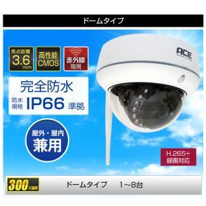 防犯カメラ 無線NVR +ワイヤレスIPカメラ4台セット ワイヤレス 屋内・屋外用 WiFi 無線 監視カメラ ネットワークカメラ 遠隔監視|monosupply|18