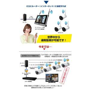 防犯カメラ ワイヤレス 屋内・屋外用 12インチディスプレイ一体型無線NVR +IPカメラ1〜3台セット リレーアタック対策 WiFi 監視カメラ 130/200万画素 H.265+ monosupply 08