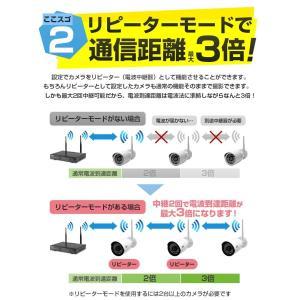 防犯カメラ ワイヤレス 屋内・屋外用 12インチディスプレイ一体型無線NVR +IPカメラ1〜3台セット リレーアタック対策 WiFi 監視カメラ 130/200万画素 H.265+ monosupply 09