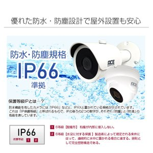 防犯カメラ 監視カメラ AHD 500万画素 カメラ1〜4台+ XVRハイブリッド録画機 屋内 屋外用 3年保証  防水 暗視|monosupply|12