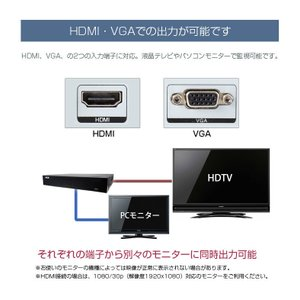 防犯カメラ 監視カメラ AHD 500万画素 カメラ1〜4台+ XVRハイブリッド録画機 屋内 屋外用 3年保証  防水 暗視|monosupply|14