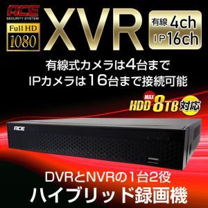 録画機 単品 有線 式防犯カメラ用スタンダード録画機 AHD アナログ 有線カメラ4台までレコーダー 8TBまで対応 ACE monosupply