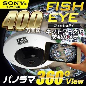 防犯カメラ 監視カメラ 400万画素 魚眼レンズ フィッシュ...