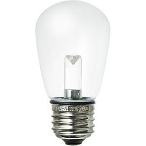 LED装飾電球 サイン球タイプ(防水設計) ELPA (朝日電器) LDS1CN-G-GWP905 クリア 昼白色相当|monotaro