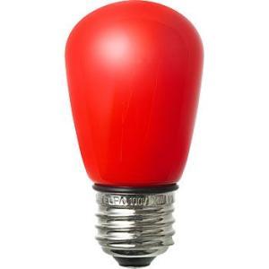 LED装飾電球 サイン球タイプ(防水設計) ELPA (朝日電器) LDS1R-G-GWP904 赤|monotaro