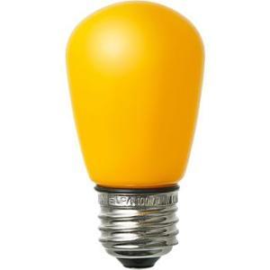 LED装飾電球 サイン球タイプ(防水設計) ELPA (朝日電器) LDS1Y-G-GWP903 黄|monotaro