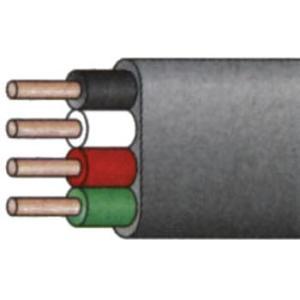 600Vビニル絶縁ビニルシースケーブル平形 VVF(単線タイプ) 住電日立ケーブル VVF2.0mmx4C 100M