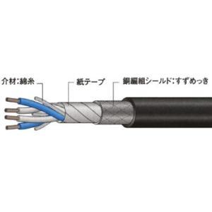 電磁シールドマイクケーブル(編組シールドタイプ) カナレ電気 L-4E6S  100M黒 100M|monotaro