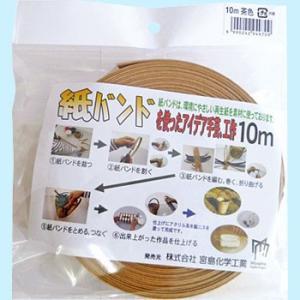 紙バンド 宮島化学工業 C16BR 茶 10m|monotaro