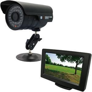 レガシー防犯カメラセット 赤外線屋外カメラ1台・モニター付 ブロードウォッチ SEC-S-1C-4L|monotaro