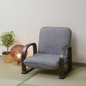 立ち座りが楽になる優しい座椅子 YAMAZEN(山善) WKC-55(GY/DBR)|monotaro