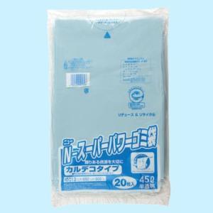 ニュースーパーパワーゴミ袋(再生材) 船場化成 カルデコN-SPB 半透明/45L monotaro