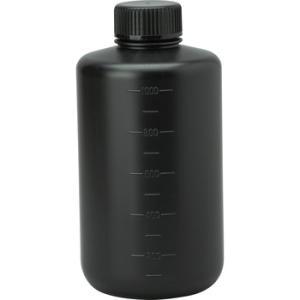 JKボトル(細口瓶・遮光) コクゴ 01-201-04-02 1L 細口 遮光黒バラ|monotaro